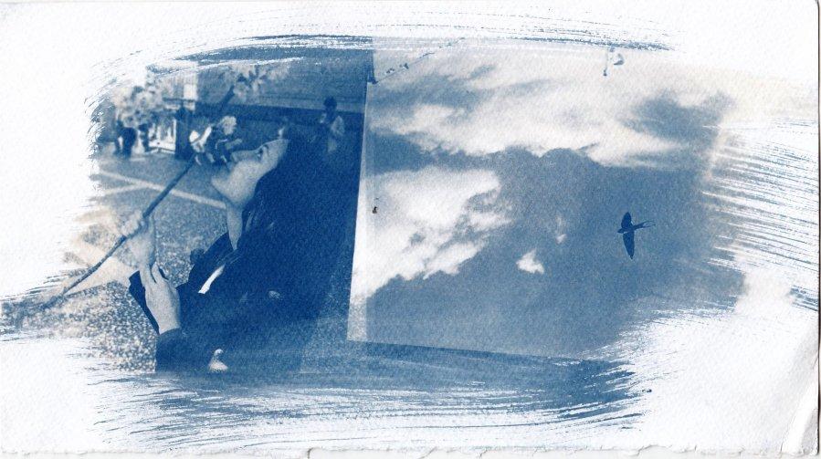 blue dyptych iv